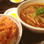 カレーうどん専門店「千吉」 - 黒吉、かき揚げ丼セットなり~