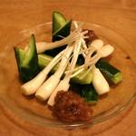 肴や味泉 - エシャレット と きゅうり (2012/11)