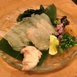 肴や味泉 - カワハギと肝  (2012/11)