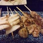 松前 - 串物(焼鳥、ナンコツ、合鴨つくね)