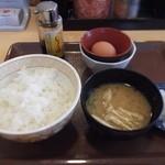 すき家 - 朝食たまごかけごはん すき家 12号江別野幌店