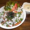 ナツメグカフェ - 料理写真:しらすのせスパム丼とコーンスープ