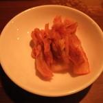をかしら屋 - 鶏唐揚げL定食(キムチ)