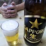 鶴家 - ドリンク写真:黒ラベル大瓶@680円