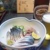 偕楽亭 - 料理写真:刺身。アジ&サバ