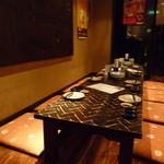 憲晴百 - 団体客の為、テーブルがくっつけてありました
