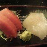 与五郎寿司 - 刺身(中トロ、平目)