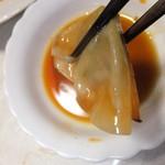 ひとくち餃子点天 - ひとくち餃子 1箱1390円を焼いてタレをつけて 【 2012年11月 】