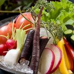 座空 - 旬丸かじり野菜盛り合わせ