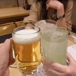 かさはら - 3人で最初の乾杯