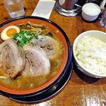 麺屋 一本気 - みそらー麺・ちゃーしゅう & ライス(2012年11月)