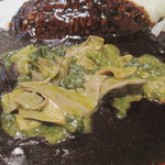 サロン・ド・カッパ - ギアラあっぷ。緑色は、何かの葉物野菜