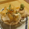 鳥忠 - 料理写真:2012.11.9)こりこりのツブ貝の刺身(730円)