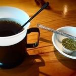 にっこりマッコリ - ランチサービスのホットコーヒー