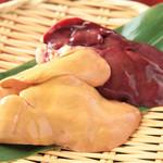 豊和 - 比内地鶏 白レバー & 赤レバー