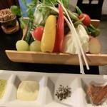 料庭 春日 - 生野菜