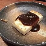 三笠会館 聖せき亭 - 豆腐ステーキ(田楽味噌のソース)