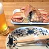 小鉢 - 料理写真:生ビールと毛蟹