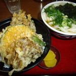讃松庵 - まいたけ天ぷら丼(ミニうどん付き) 850円