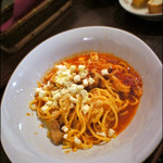 オーガニックイタリアン Kokua - 料理写真:ゴーバル豚の自家製パンチェッタとモッツァレラのトマトソース。