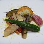 ヴェント モデルノ メインダイニング - 契約農家さんのお野菜のグリル パルミジャーノ風味