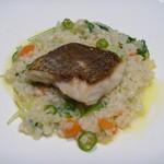 ヴェント モデルノ メインダイニング - 天然真鯛と京野菜のリゾット