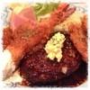 グリル タネダ - 料理写真:1680円のランチ  ハンバーグは肉を食べてるって感じれるしっかりした噛みごたえ。中の玉ねぎはシャッキリしてる。 エビフライは大きくてプリプリ*カツはお肉が柔らかい。ホタテフライは普通。 高いランチやけど美味しかったです( ´ ▽ ` )ノ