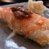 おかめ寿司 - 料理写真:握り 車海老の黄身おぼろ漬け