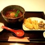 十割蕎麦 安曇野 - 牛蒡とむかごの天ぷら蕎麦(季節限定)