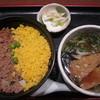 鳥はな - 料理写真:2012/11 そぼろ丼と温かいうどんセット