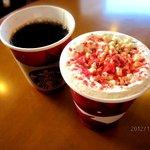 スターバックス・コーヒー - ナッティープラリネラテ/クリスマスブレンド!(2012,11/18)