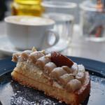 グッドモーニングカフェ - ケーキセット(¥850)のモンブラン