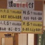15984019 - 3貫握り寿司のメニューです