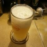 山羊料理 美咲 - オリオンの生ビールを駆けつけ2杯!