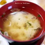 食い処 くりたや  - 味噌汁