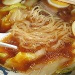 中華そば 一元 - モチモチ感ある卵中華麺