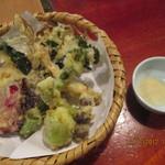そば処双葉 - 旬菜天ざるの天ぷら