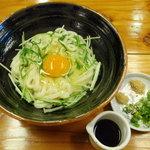 叶 - 料理写真:【釜揚げ玉子うどんリニューアル!】シャキシャキの水菜が入って更に美味しくなりました!