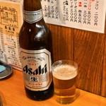 立飲みカドクラ - アサヒスーパードライの大瓶がなんと350円!