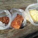 パークス - 黒糖揚げドーナツ、アップルパイ、メロンパン どれも100円