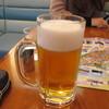 アースカフェ - ドリンク写真:この日は社員が運転してくれたので私はビールで乾杯です。