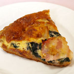 パ・パン - 水前寺菜とベーコンのキッシュ