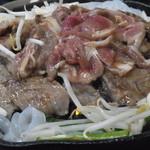 寛松ジンギスカン - 料理写真:ジンギスカンはこのようにして作ります