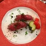 16063770 - 黒毛和牛のお寿司380円(2貫で)