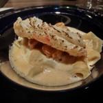 レストラン ラ フィネス - オマールの味噌を練りこんだパスタと京都産松葉蟹のカネロニ