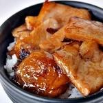 天さん - 料理写真:チャーシュー丼セット(600円)のチャーシュー丼