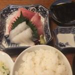 登良屋 - 2012/11/27 刺身(お食事付き)