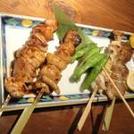 産地直送 お魚とお野菜 海畑 - 串焼き5本盛り(980円)