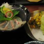 くら蔵 - 鯛のお造り&蛸の天ぷら