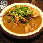 串焼ホルモン 城戸 - 名物NHK(ニラヒモキムチ煮)